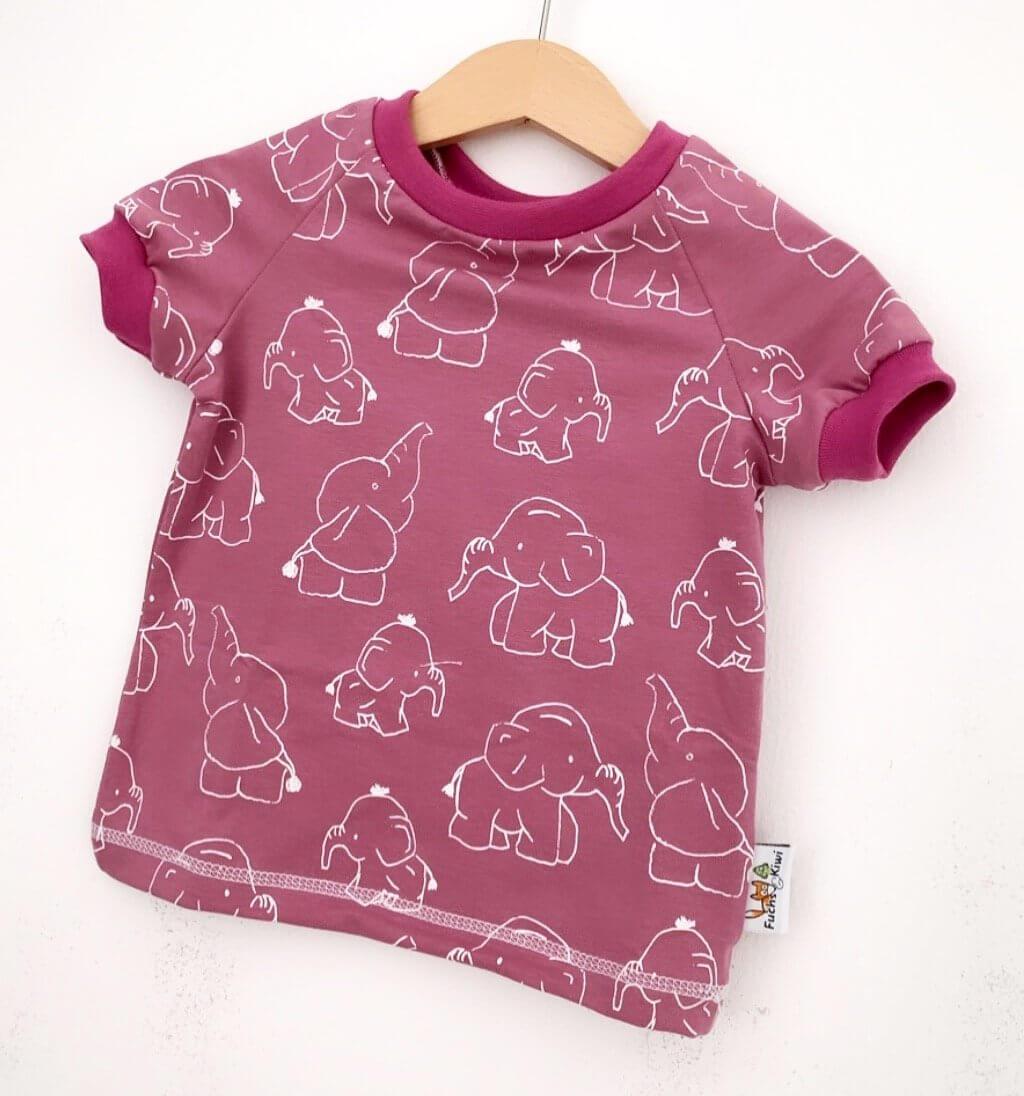 T-Shirt Elefanten beere