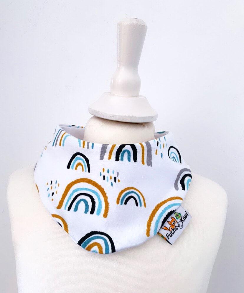 Halstuch Regenbogen mint
