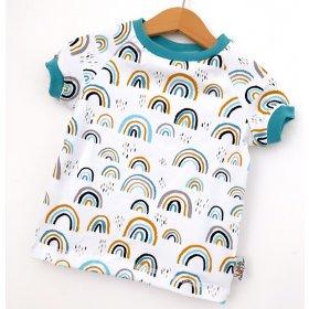 T-Shirt Regenbogen mint