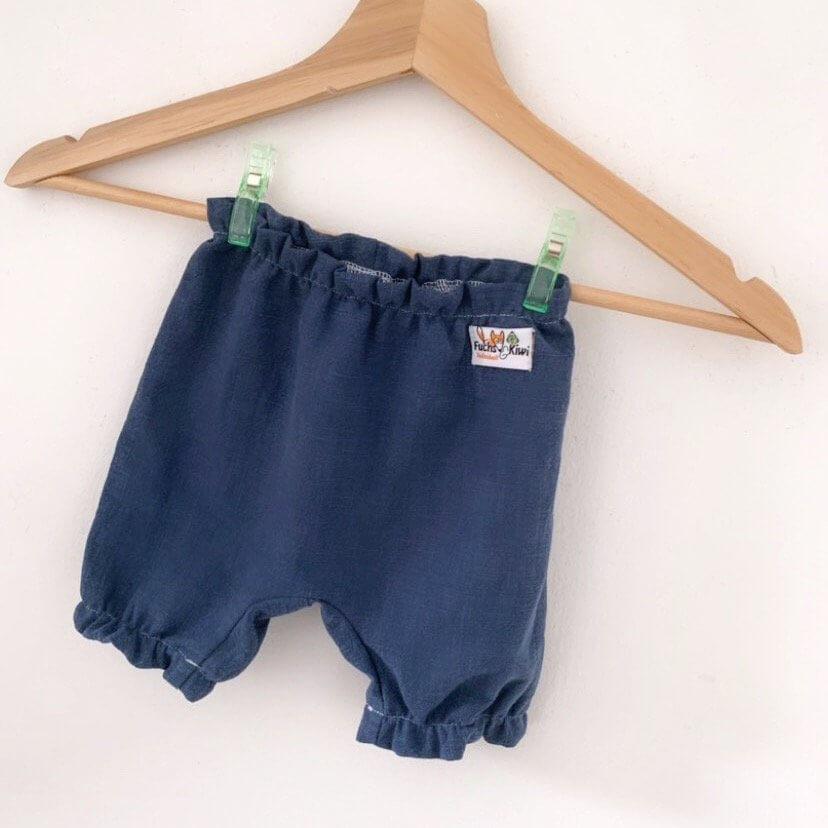 Individuell Kurze Hose Leinen blau