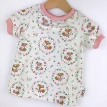 T-Shirt Füchse & Blumen creme