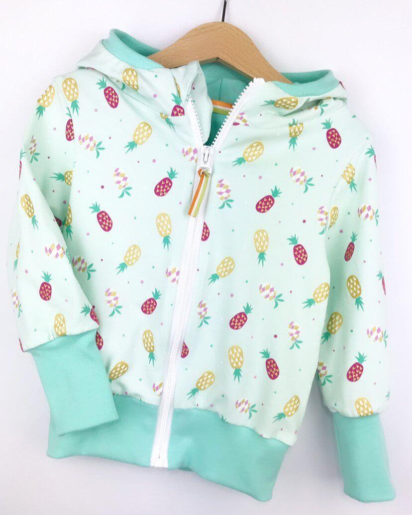 Sweatjacke Ananas mint