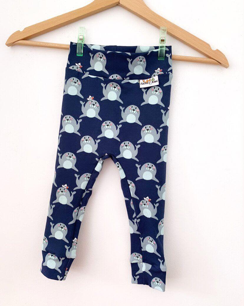 Leggings Robben blau