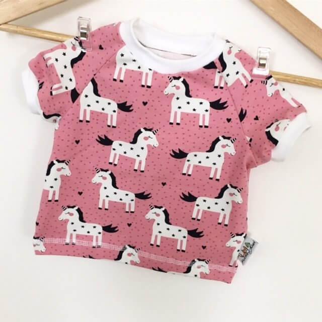 T-Shirt Einhörner rosa