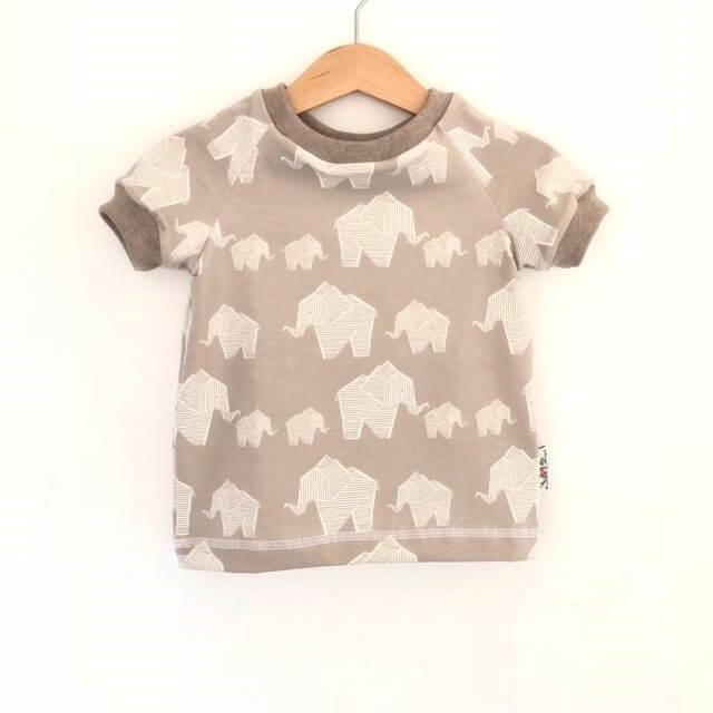 T-Shirt Elefanten grau 74/80