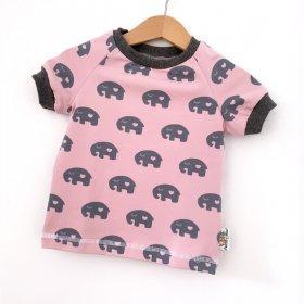 T-Shirt Elefanten schwarz
