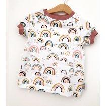 T-Shirt Regenbogen rosa