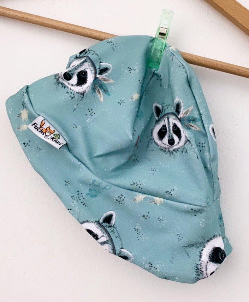 Sommermütze Waschbär mint