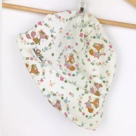 Sommermütze Füchse & Blumen creme