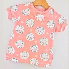 T-Shirt Löwe rosa