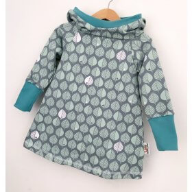 Hoodiekleid Sweat Blätter altmint