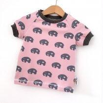 T-Shirt Elefanten schwarz 50/56
