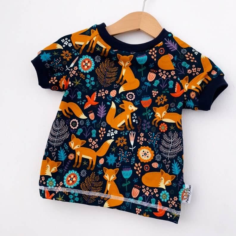 T-Shirt Füchse & Blumen