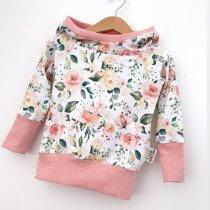 Hoodie für Mama Blümchen rosa