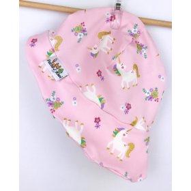 Sommermütze Einhörner rosa