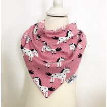 Halstuch zum Binden Einhörner rosa