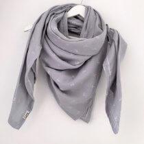 Tuch für Mama Musselin Anker grau