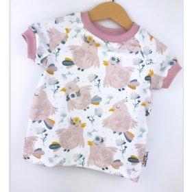 T-Shirt Täubchen rosa