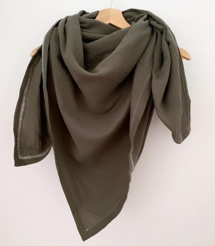 Tuch für Mama Musselin khaki