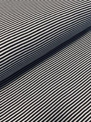 Jersey Streifen schwarz/weiss