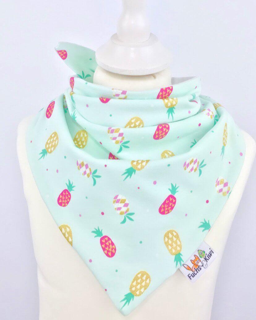 Halstuch zum Binden Ananas mint