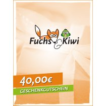 Gutschein 40 € - Fuchs & Kiwi