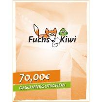 Gutschein 70 € - Fuchs & Kiwi