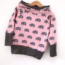 Hoodie Elefanten schwarz