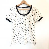 T-Shirt für Mama Anker & Herzen weiss