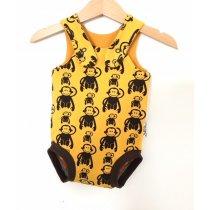 Sommerstrampler mit Affen gelb