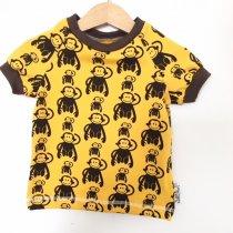 T-Shirt mit Affen gelb