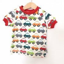T-Shirt mit Autos creme