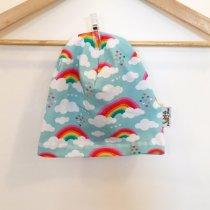 Beanie mit Wolken & Regenbogen