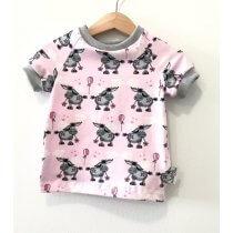 T-Shirt Esel rosa