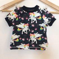T-Shirt mit Einhörnern dunkelblau