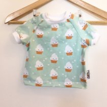 T-Shirt mit Cupcakes mint