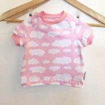 T-Shirt mit Wolken rosa