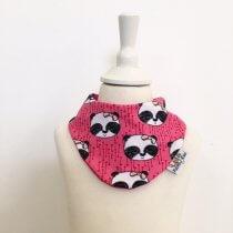 Halstuch mit Panda pink