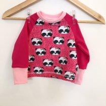 Langarmshirt mit Panda pink