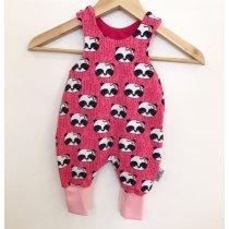Strampler mit Panda pink