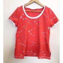 T-Shirt für Mama mit Schwalben lachs