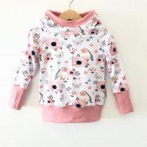 Hoodie für Mama mit Vögelchen rosa