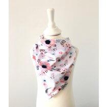 Halstuch zum Binden mit Vögelchen rosa