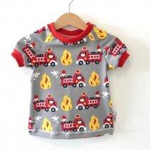 T-Shirt Feuerwehr grau