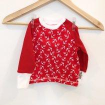 Langarmshirt mit Anker rot