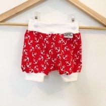 Kurze Hose mit Anker rot