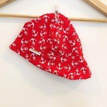 Sommermütze mit Anker rot