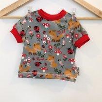 T-Shirt mit Fuchsbaby grau
