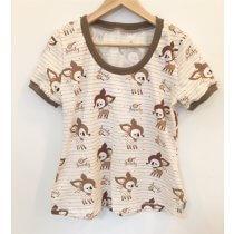 T-Shirt für Mama mit Reh Glitzer