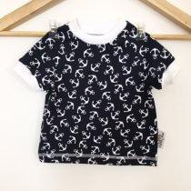 T-Shirt mit Anker dunkelblau